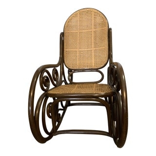 Thonet Art Nouveau Inspired Bentwood Rocking Chair For Sale