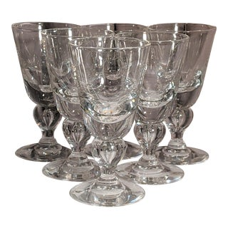 Signed Steuben Blown Glass Goblets - Set of 10 For Sale