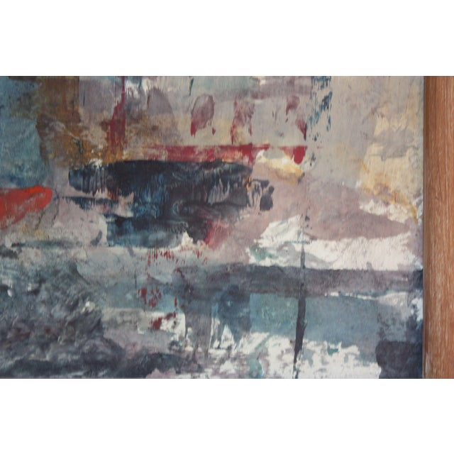 Canvas Frank Edwin Larson Abstract Oil and Gouache on Canvas For Sale - Image 7 of 9
