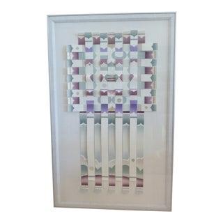 John Patricks Torn Paper Three Dimensional Lithograph For Sale