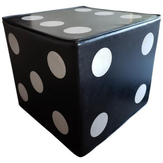 Vintage Oversized Dice Ottoman For Sale