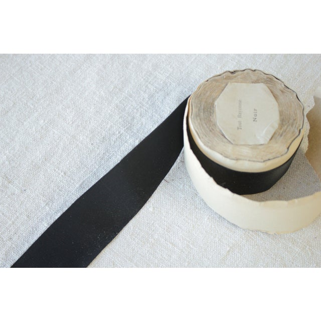 Vintage Black Hat Ribbon Or Trim - 2 Inches Wide For Sale - Image 6 of 7