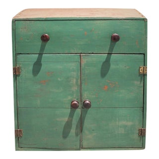 19th Century Early Original Painted Cabinet For Sale