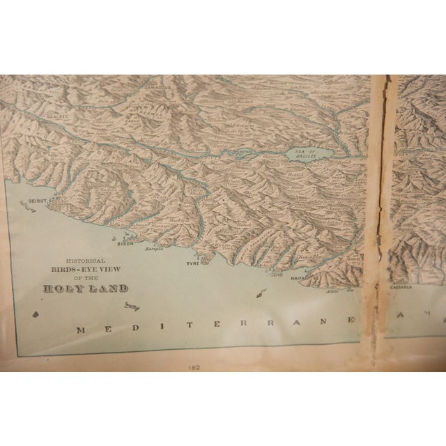 Antique White Cram's 1907 Map of Holy Land For Sale - Image 8 of 9