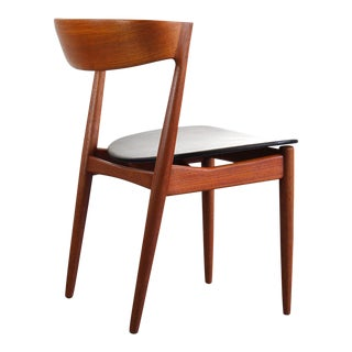 Klein for Bramin Teak Compass Sculpted Desk Chair / Accent Chair For Sale
