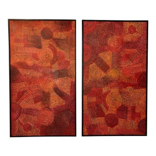 Contemporary Tribal Paintings - A Pair For Sale