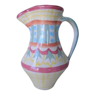 Mackenzie Childs Pastel Pitcher For Sale