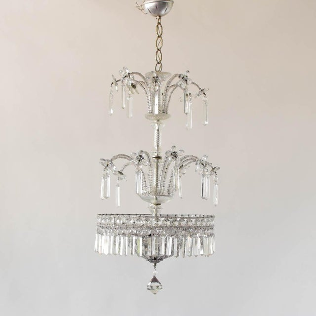 Italian Silver Italian Chandelier For Sale - Image 3 of 7