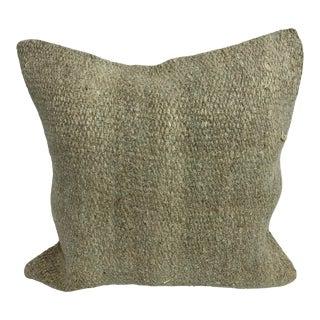 "Turkish Handwoven Organic Vintage Pillow - 20x20"" For Sale"