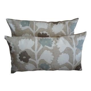 "Robert Allen ""Surreal Vines"" Pair of Lumbar Pillow Covers - a Pair For Sale"