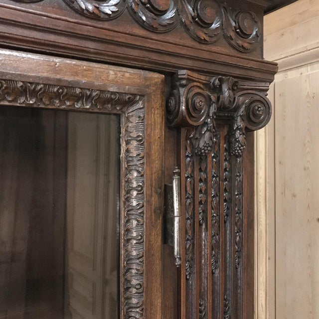 19th Century French Louis XVI Neoclassical Bookcase For Sale - Image 10 of 13