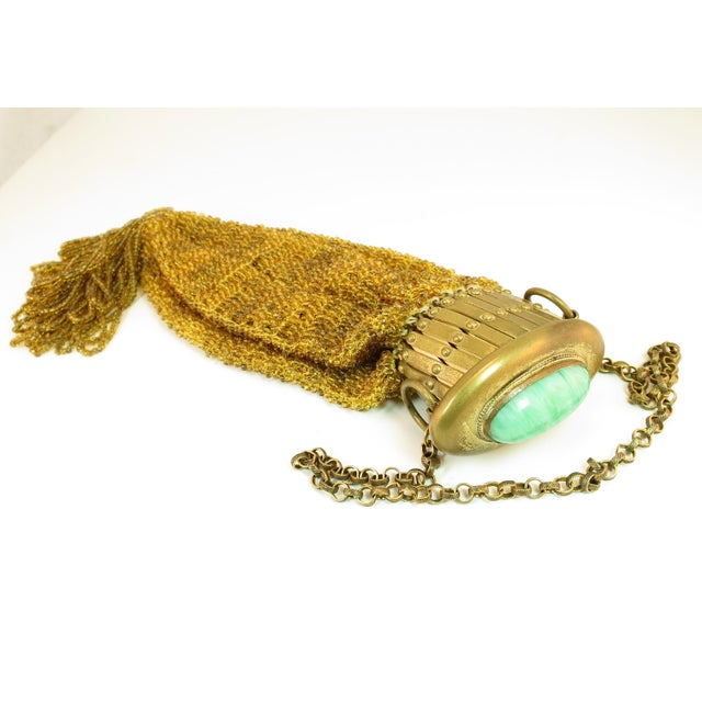 Victorian Hand-Beaded Reticule Evening Bag 1870s For Sale In Los Angeles - Image 6 of 11