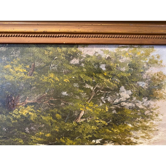 Vintage Signed Oil on Canvas Painting For Sale In Los Angeles - Image 6 of 13