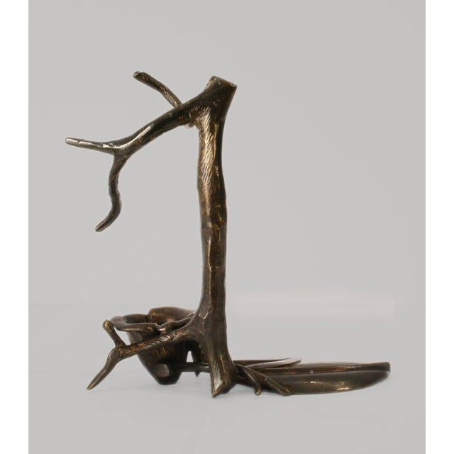 """Robert Lee Morris """"Pair of Standing Tree Candleholders"""" Sculpture by Robert Lee Morris, 1990s For Sale - Image 4 of 4"""