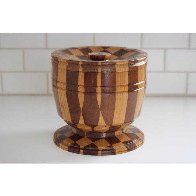 Lidded Wooden Pedestal Bowl - Image 2 of 10