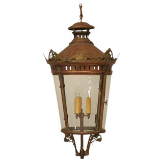 French Antique Copper Lantern For Sale