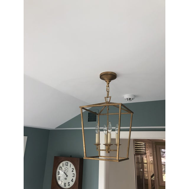 Darlana Lantern in Gilded Iron by Visual Comfort For Sale In New York - Image 6 of 6