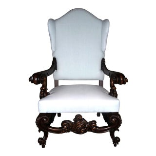 Occasional Chair Baroque Rococo Fireside Wings For Sale