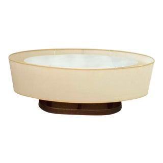 1960s Mid-Century Modern Modeline of California Oblong Walnut Desk Lamp For Sale