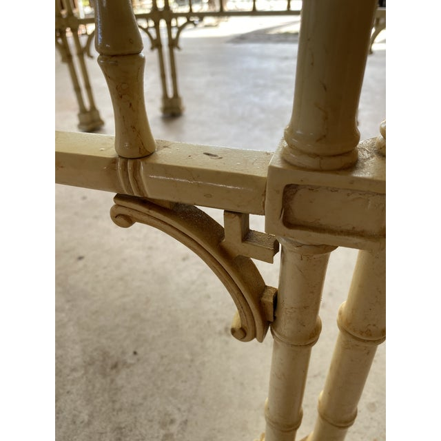 Vintage Faux Bamboo Fretwork Coffee Table For Sale - Image 10 of 13