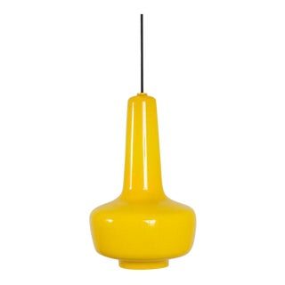 Jacob E. Bang Vintage Mid-Century Yellow 'Kreta' Pendant Lamp