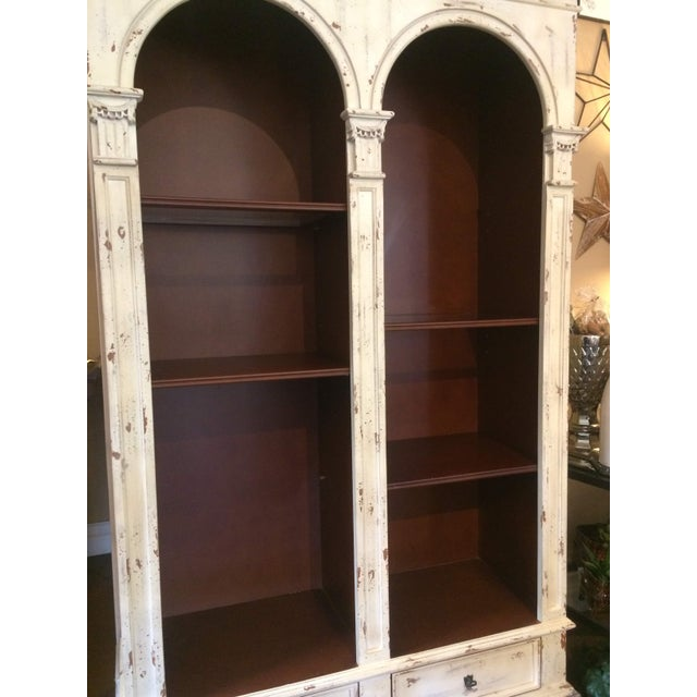 English Traditional Style Painted Book Shelf For Sale - Image 11 of 13