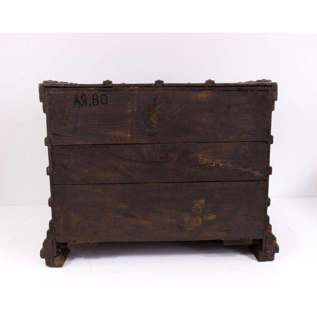 Impressive Brutalist Art Drawer Cabinet With a Beautiful Patina, Signed Ar-bo - Image 6 of 9