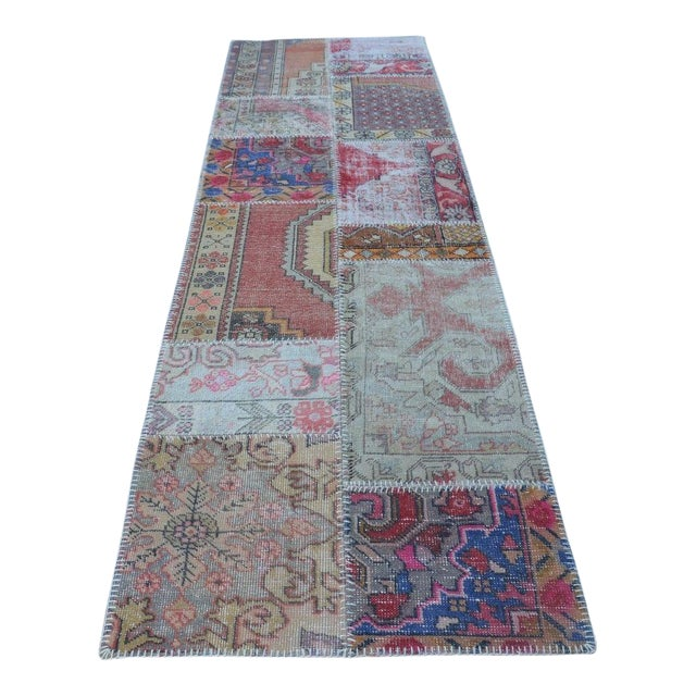 Vintage Handwoven Decorative Anatolian Runner - 2′11″ × 10′ For Sale