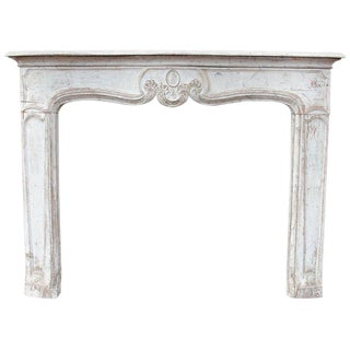 19th Century French Carved Wood Fireplace Mantel For Sale