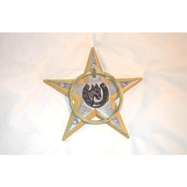 Horsehoe and Star Iron Door Knocker For Sale - Image 11 of 11