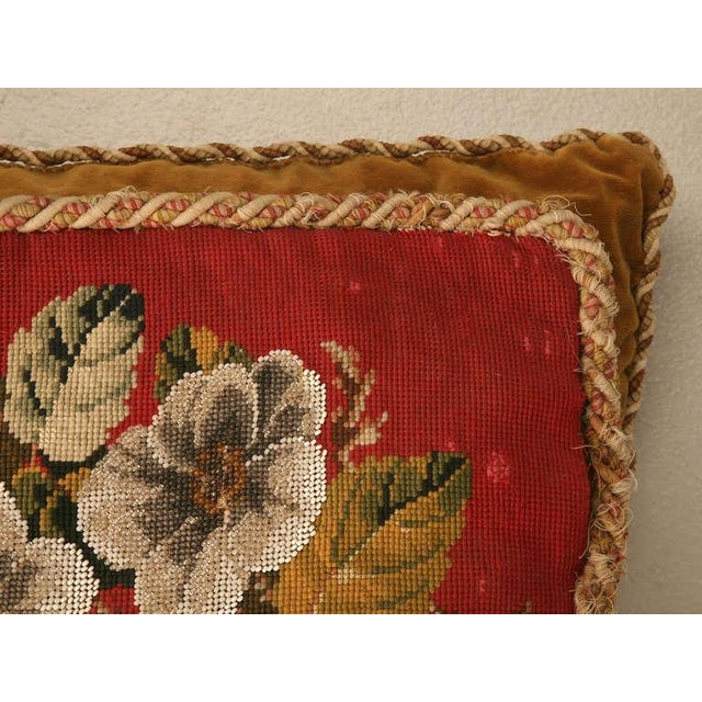 Circa 1900 Victorian English Beaded and Needlepoint Pillow For Sale - Image 4 of 11