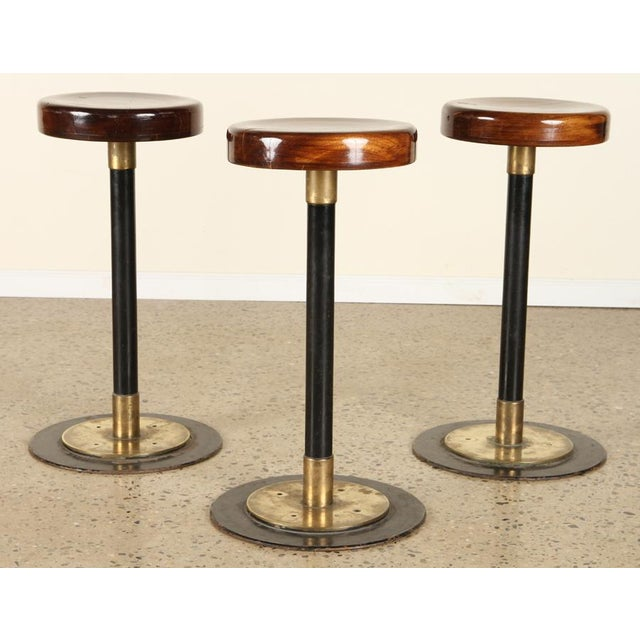 Lacquered Wood Bar Stools For Sale In San Francisco - Image 6 of 7