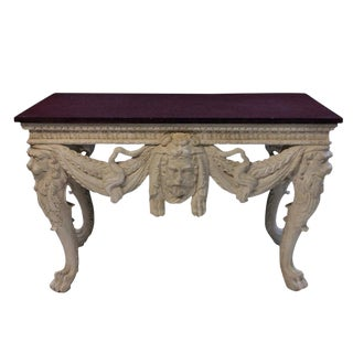 A Large Country House Console Table With a Solid Porphyry Top For Sale