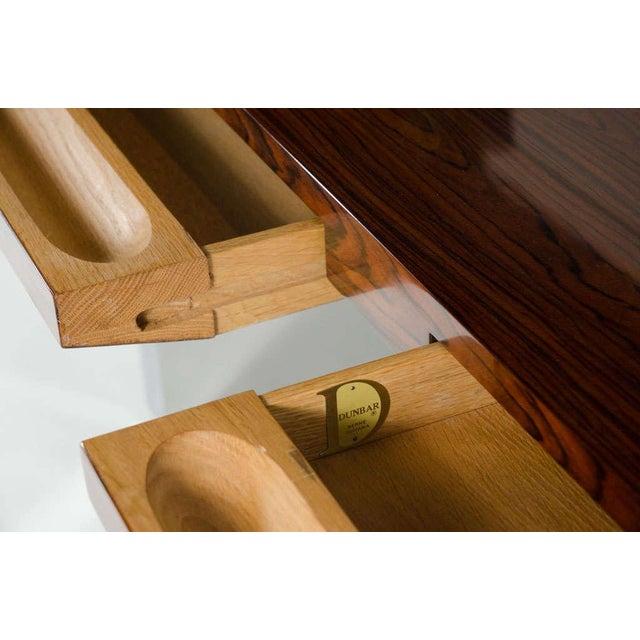 Roger Sprunger for Dunbar Rosewood & Chrome Executive Desk For Sale - Image 10 of 10