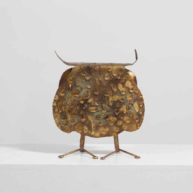Brutalist A Brutalist Owl by C. Jere Signed 1968 For Sale - Image 3 of 6