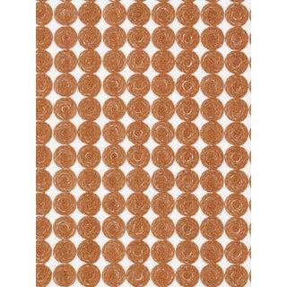 Sample, Scalamandre Labriz, Terra-Cotta Fabric For Sale