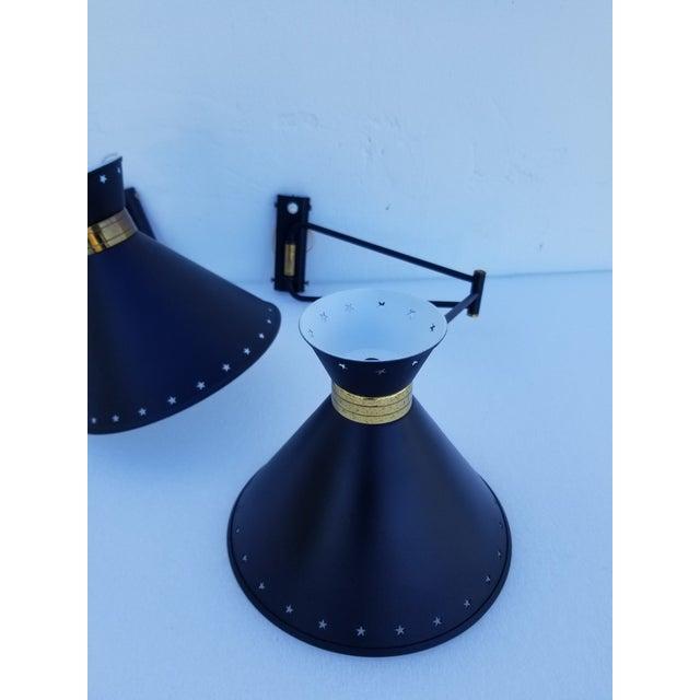 Mid-Century Modern 1960s Maison Lunel Retractable Sconces - a Pair For Sale - Image 3 of 8