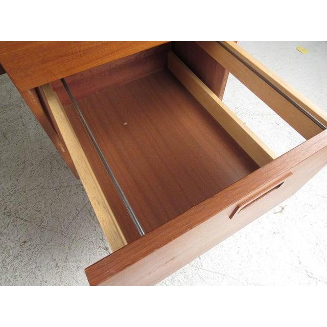 Danish Modern Teak Desk - Image 6 of 10