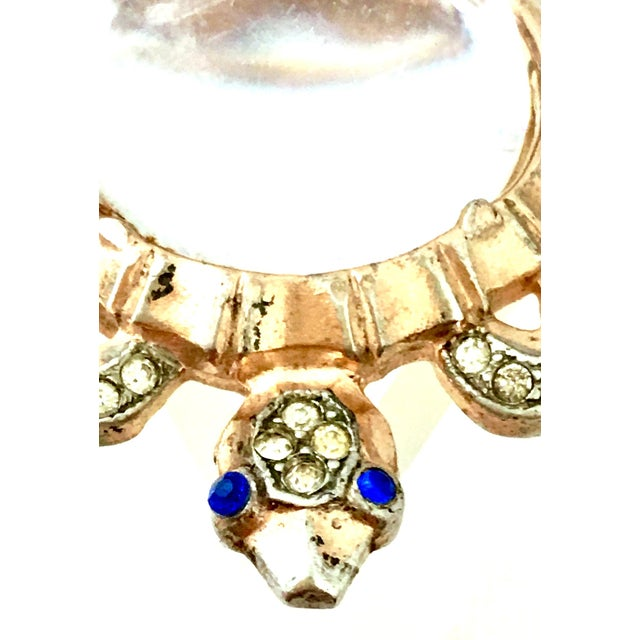 Metal 1940s Trifari Sterling Vermeil, Lucite & Crystal Jelly Belly Turtle Brooch For Sale - Image 7 of 13