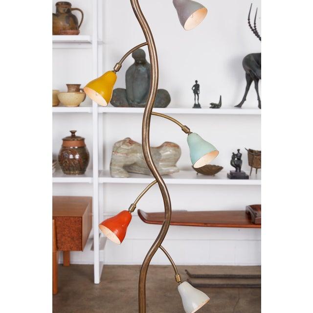 1960s Italian Freeform Tulip Shade Floor Lamp For Sale - Image 5 of 11