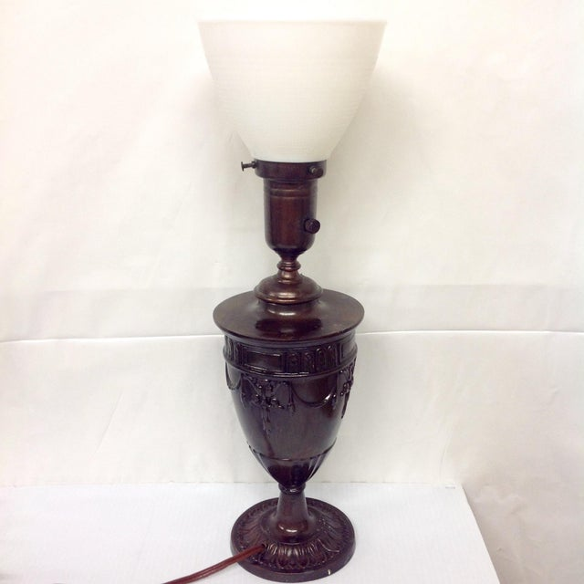 Mediterranean Early Grecian Urn Lamp by Moe Bridges For Sale - Image 3 of 6