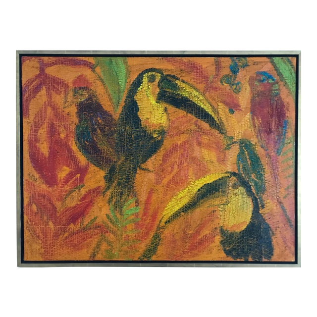 Painting of Toucans by Hunt Slonem For Sale