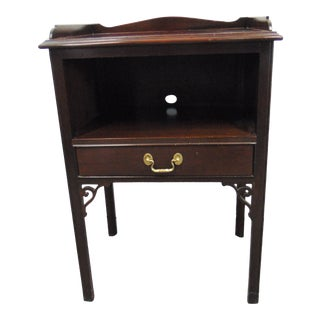 Councill Chippendale Style Mahogany Nightstand For Sale