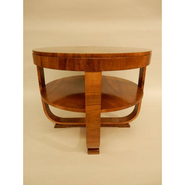 Art Deco 1930s Art Deco Walnut Side Table For Sale - Image 3 of 6
