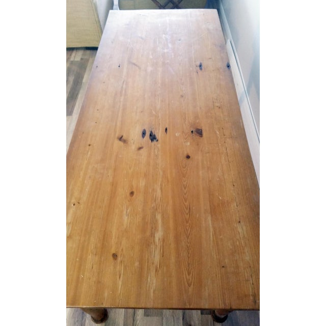 Rustic Farmhouse Dining Table - Image 7 of 7