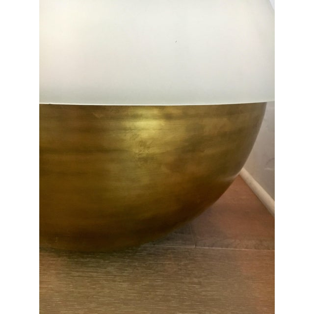 Mid-Century Modern Aged Bronze Apparatus Axon Lamp For Sale - Image 11 of 12