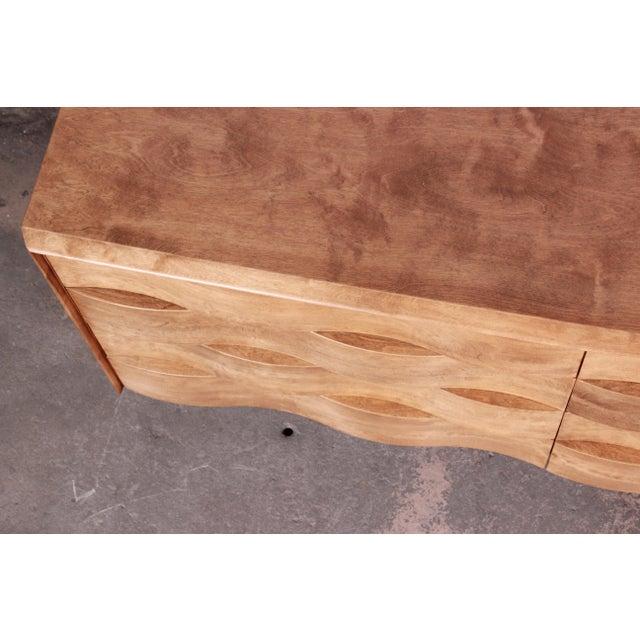 Brown Edmond Spence Wave Front Long Dresser For Sale - Image 8 of 11