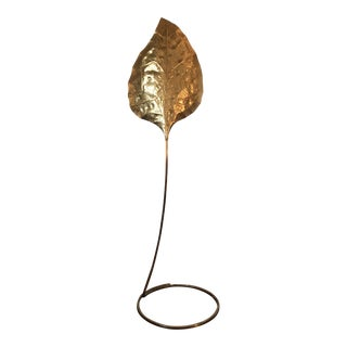 Tommaso Barbi Brass Leaf Floor Lamp