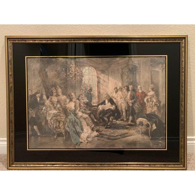 Mediterranean Vincente De Parades Framed Art - the Recital For Sale - Image 3 of 3