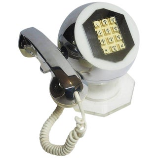 Midcentury Lucite and Chrome Telephone by TeleConcepts Inc., 1977